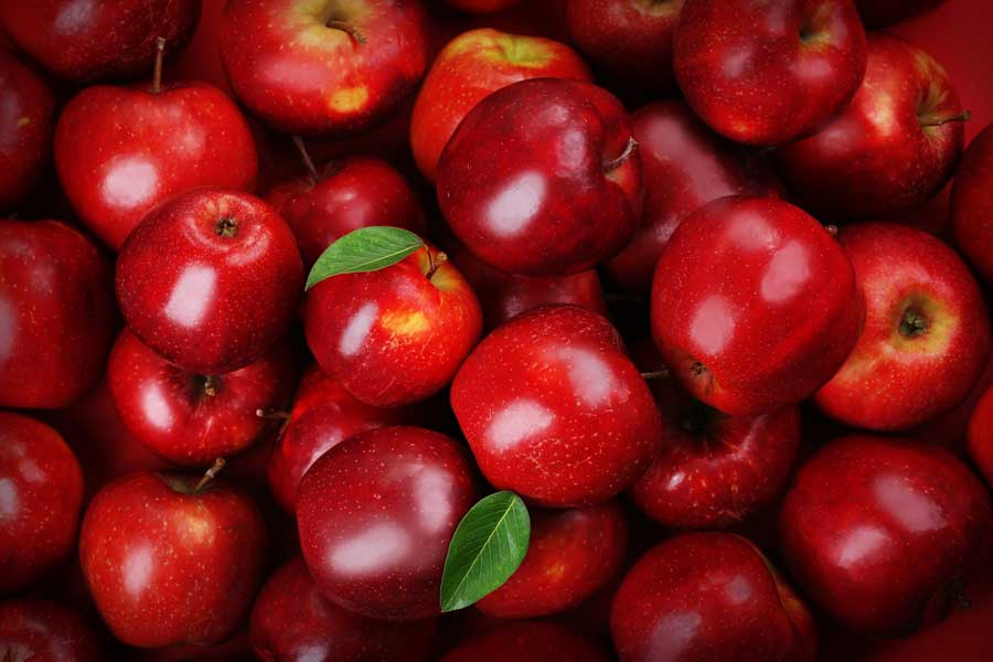 APPLES RED DELICIOUS OG BULK P 38 LBS/100 CT