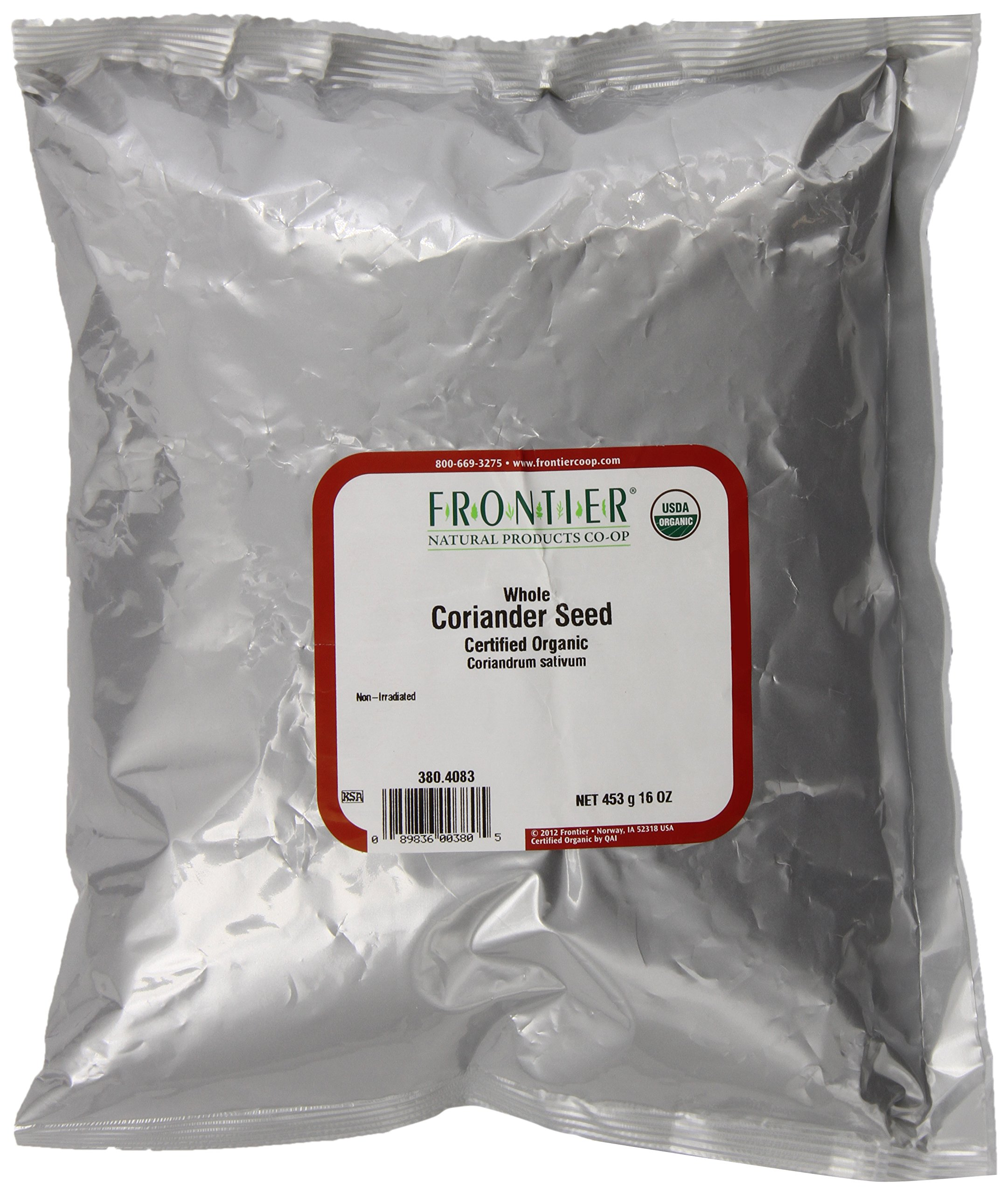 CORIANDER SEED WHOLE OG FRONTIER 1 LB