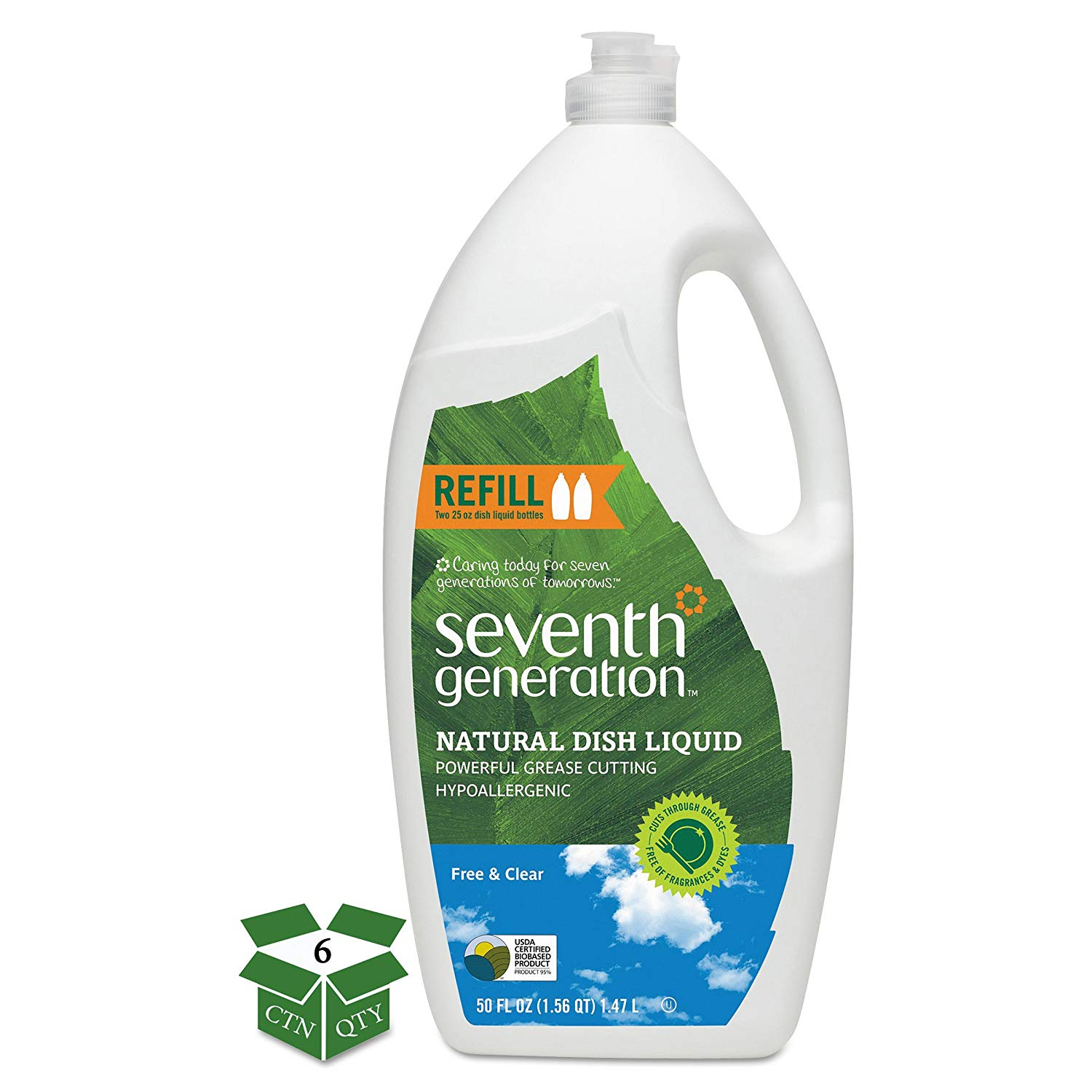 HSH/DISH LIQUID FREE & CLEAR SEVENTH 6/50 OZ