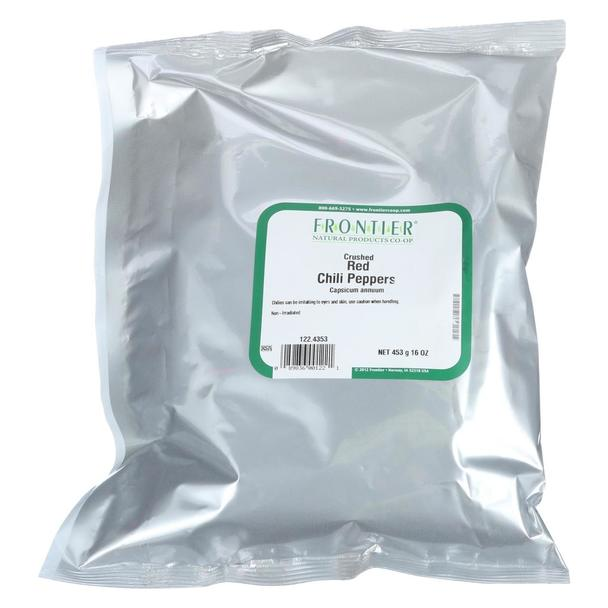 PEPPER RED CHILI CRUSHED FRONTIER 1 LB